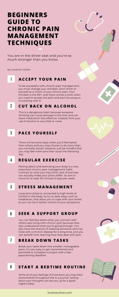 infographic chronic pain management techniques