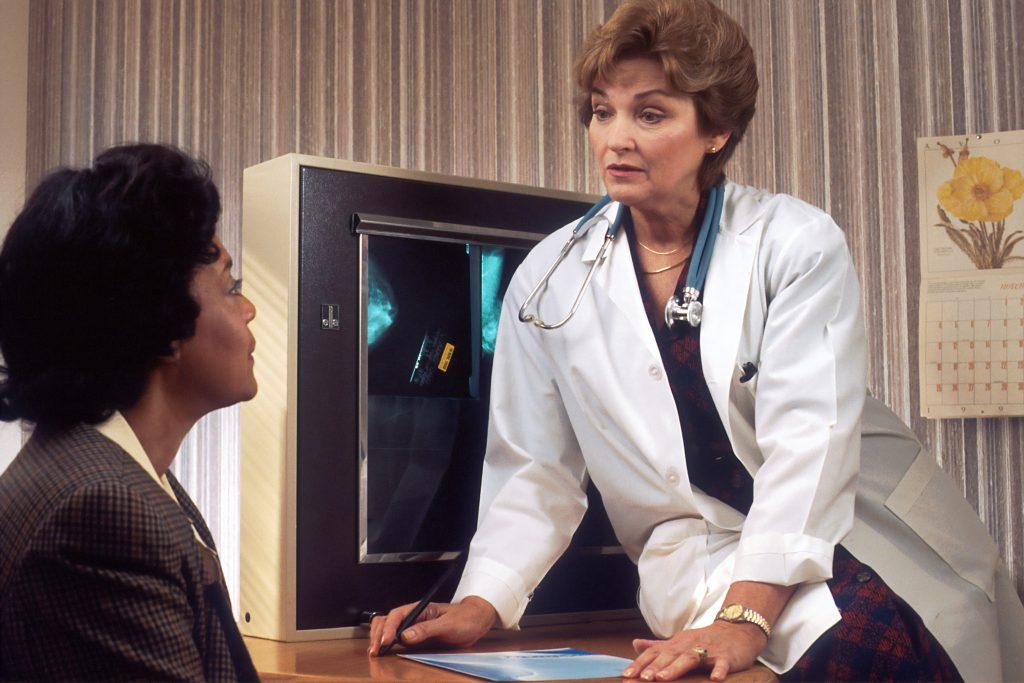 patient in doctors office